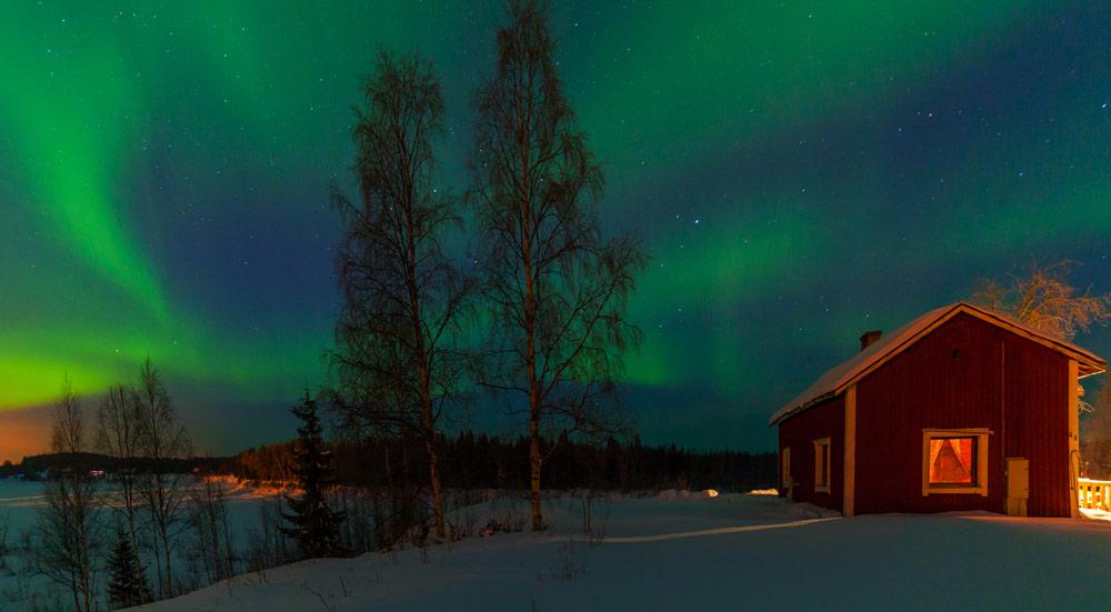 Noorderlicht, Aurora Borealis, Fins Lapland