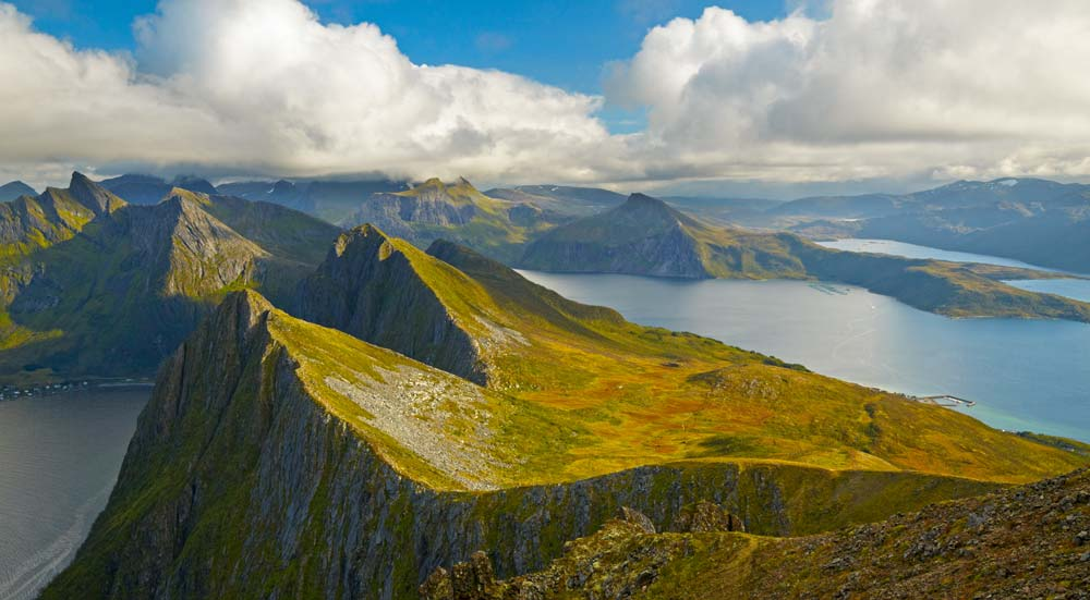 Lofoten eilanden in noordelijk Noorwegen